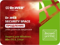 АНТИВИРУС DR.WEB SECURITY SPACE, 2 ПК, 12 мес., продление