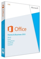 Microsoft Office Home and Business 2013, 1ПК, DVD, BOX